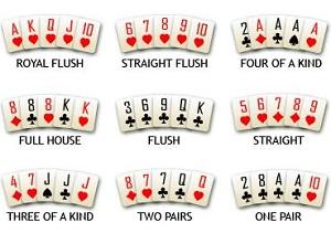 casino poker handen punten schema