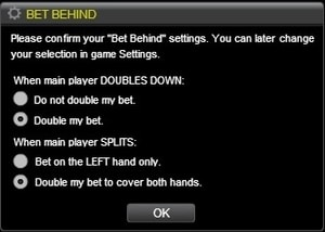 bet behind inzetten blackjack